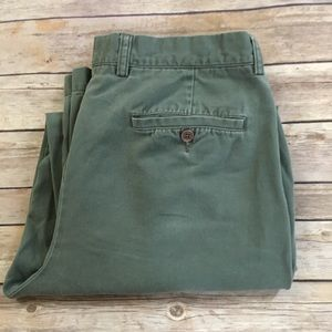 J CREW pleated front light olive chino khaki pants